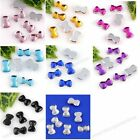 1000Pcs Acrylic 3D Nail Art bowknot SCRAPBOOK mobile Stickers DIY Decorate bulk