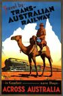 Countries Travel Poster Trans Australian Railway CTP067 Print Canvas A4 A3 A2 A1