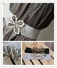 sweet Hollow Butterfly Buckle Elastic Waist corset Band Belt dress TOP Lady ACC