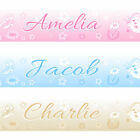 CUTE BUTTERFLY BEDROOM WALL BORDER STRIPS girls nursery flowers pink blue beige