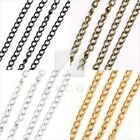 DIY Hot 4/12/20m DIY fashion Curb Chains Unfinished Link fit Bracelet Necklace