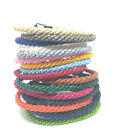 FAIR TRADE Round WAXED COTTON Weave Classic Thai WRISTBAND Handcrafted Wristwear
