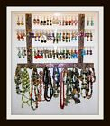 """Earring/Jewelry Holder MINI GG Holds 51 Pair """"PICK A FABRIC"""" Mounts on Wall HOT"""
