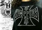 T Shirt Femme Hell Head  Choppers STRASS , Mode,  Fashion, Original, Moto, Biker