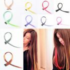 Wholesale Woman Lady's Long Straight Hairpiece Clip in/on Hair Extension Black..