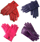 LADIES NEW SUPER SOFT REAL LEATHER FULLY LINED GLOVES VARIOUS COLOURS WINTER