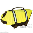 Safety Neon Yellow Dog Life Preserver Jacket Water Flotation Vest