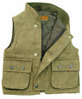 D6 Childrens Derby Tweed Hunting Shooting Kids Vest Gilet Bodywarmer
