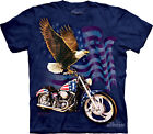 BORN TO RIDE - Eagle-Cycle T-Shirt - The Mountain Classic Blue Tie-Dye-10-3014