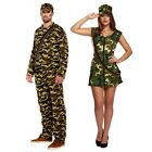 Adult Sexy Army Man Woman Camouflage Soldier  Fancy Dress Up Costume