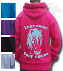 PERSONALISED HORSE HOODIE PONY GIFT Children's Equestrian STUNNING NATIVE PONY