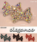 EIMASS® Trendy Bow Tie Crystal Earrings Studs Vintage Retro Silver, Butterfly