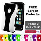 New Cup Series Hard Case Cover Fits Apple iPhone 3 / 3GS + FREE Screen Protector