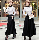 New Womens Ladies Elegant Skirt Long Skirt Winter Skirt US 2 ~ 18 #GF0695