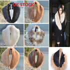 Ladies Women's  Faux Fur Collar Scarf Fluffy Winter Shawl Wrap Stole Scarfs