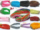 Wholesale lots 50/100pcs Lobster Clasp Organza Ribbon Waxen Cord Necklace