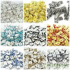 100pcs Czech Crystal Rhinestones Squaredelle Spacer Beads 5mm 6mm 8mm 10mm Pick