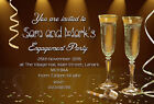 Personalised Engagement Party Invitations Invites Gold E5