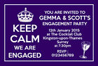 Personalised Engagement Party Invitations Invites Keep Calm E30