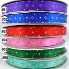 "5/8""16mm mixed colors stars pattern satin ribbon craft bow 5 yards U pick"