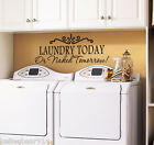 ryming quotes - LAUNDRY TODAY OR NAKED TOMORROW Laundry Room Wall Art Decal Sticker Saying Quote