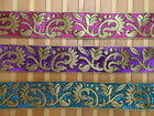 "2Yd  Paisley Jacquard Trim 1.50"" wide Woven Border Sew Ribbon T271"