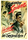 World War Two German Home Front Beware of British Spies Poster A3 Print