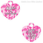 Personalised Heart Metal Pet Dog Cat Double Sided Address Phone Number ID Tag