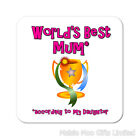 Worlds Best Mum Gran Nan Godmother Nanny Wooden Gift Coaster Mothers Day