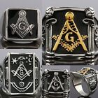 Man Mens Antique Religion Totems Stainless Steel Punk Biker Finger Rings Jewelry
