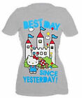 HELLO KITTY 50TH ANNIVERSARY BEST DAY SINCE YESTERDAY  T SHIRT TOP LICENSED A