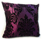 X LARGE FLOCK DAMASK CUSHIONS + COVERS 9 COLOURS 23