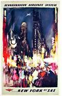 Scandinavian Airlines Flights to New York Poster  A3 Print