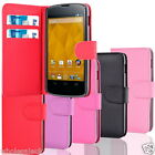 FOR  LG Nexus 4 E960 Side Open Soft PU Leather Card Holder Wallet Case Cover