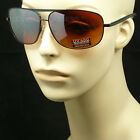 SUNGLASSES LARGE FRAME HD HIGH DEFINITION DRIVE VISION BLUE RAY BLOCKER AVIATOR