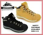 STEEL TOE CAP MENS SAND BLACK WORK SAFETY NEW  TRAINER HIKING BOOT SIZE 6 -12