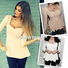 tp66 Celebrity Style Sweetheart Neckline Textured Long Sleeve Tunic Peplum Top