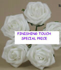 30 ARTIFICIAL FOAM ROSES  WHITE OR IVORY.***limited stock***.33p each***