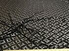 Discount Fabric Stretch Mesh Lace Black and metallic Silver Geometric 656LC