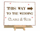 Personalised Arrow Direction Wedding Metal Vintage Shabby Chic Style Plaque Sign