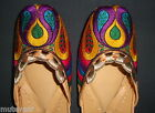 PHULKARI WORK hand made punjabi jutti shoes bridal wear embroidered  PJ9704