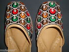 PHULKARI WORK hand made punjabi jutti shoes bridal wear embroidered  PJ9706