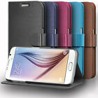 Vintage Leather Wallet Folding Case Cover Card Slot Stand For Samsung Galaxy S6