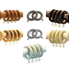 Speedy County 28mm Wood Curtain Rings, 4 Pack