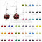 Disco Ball Beads Charm Pave Shinning Crystal Rhinestones Earring Iron Pendants