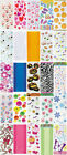 20/30 CELLO PARTY BAGS PATTERNED CLEAR XMAS HALLOWEEN CELLOPHANE LOOT GIFT BAGS