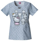 Hello Kitty Cherokee Tooniform Round Neck Bow Front Scrub Top 6769 VB HKFM