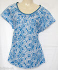 NEW LADIES BODEN BLUE COTTON TUNIC TOP SIZE  8- 16 new