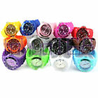 Silicone Rubber Unisex Watch with Date 13 Ice Cool Colours Toy BRAND NEW <br/> 13 Colours&bull;FREE Combined Postage&bull;UK Stock&bull;Fast Dispatch
