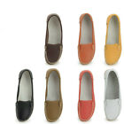 Leather Nurse Mother Comfy Anti-skid Shoes ladiess flat ballerina shoes  [JG]